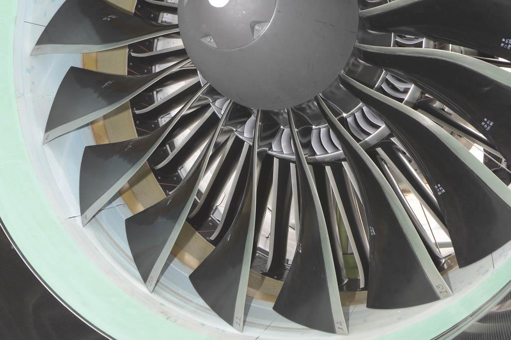 Detalle de los álabes del Pratt & Whitney PW1524G.