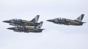 El Breitling Jet Team participó en octubre de 2014 en el macro festival aéreo Airee 76 en la base aérea de Torrejón.