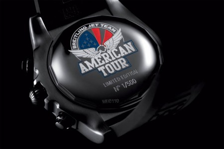 Tapa trasera del Chronomat 44 Breitling Jet Team American Tour Limited Edition.