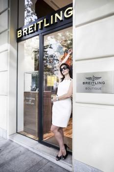 Ainhoa Sánchez, nueva amiga de la marca de relojes Breiltling