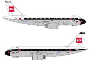 Este será el esquela de pintura que lucirá desde el mes de marzo el Airbus A319 G-EUPJ de British Airways.