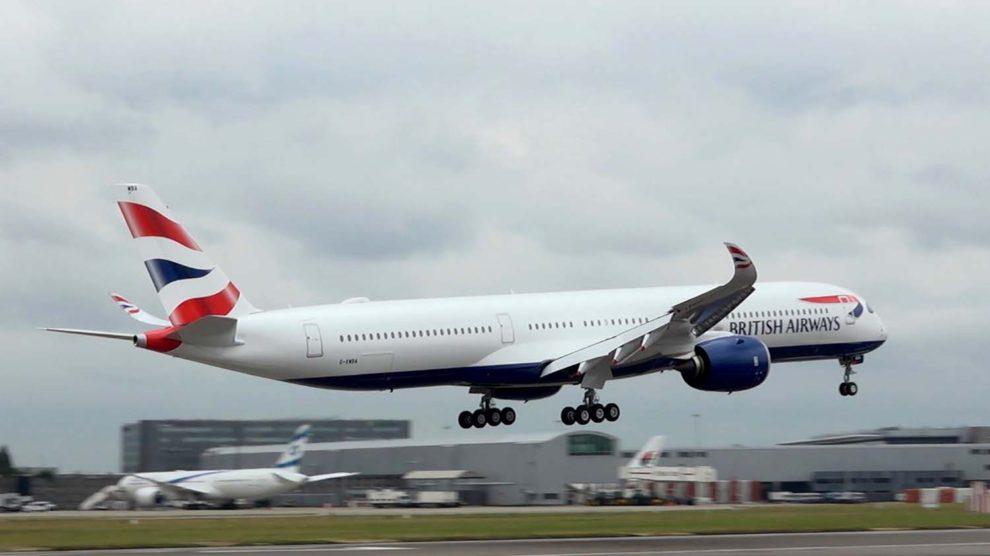 Llegada a Londres Heathrow del primer Airbus A350-1000 de British Airways.