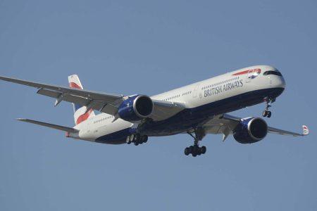 En 2020 British Airways incorporó, entre otros, cuatro Airbus A350-1000.