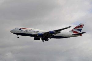 El Boeing 747-400 G-CIVT, uno de los retirados en Teruel, aterrizando el Londres Heathrow .