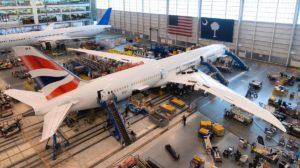 Entre los 10 aviones entregados por Boeimng en junio de 2020 han estado los dos primeros B-787-10 para British Airways.