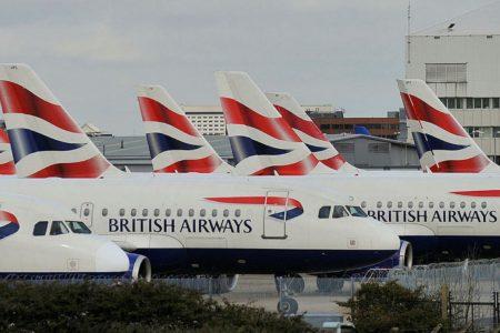 Aviones de British Airways en el aeropuerto de Londres Heathrow.