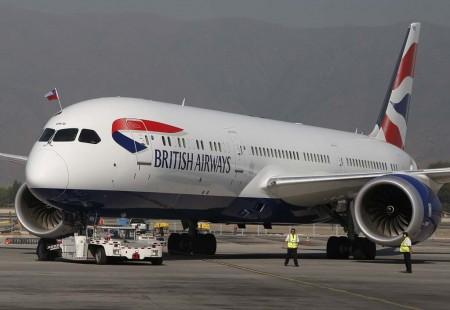 El 4 de enero llegó el primer Boeing 787-9 de British Airways a Santiago de Chile.
