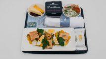 Bandeja ofrecida por British Airways en su clase business europea en vuelos desde el aeropuerto de LOndres Gatwick.