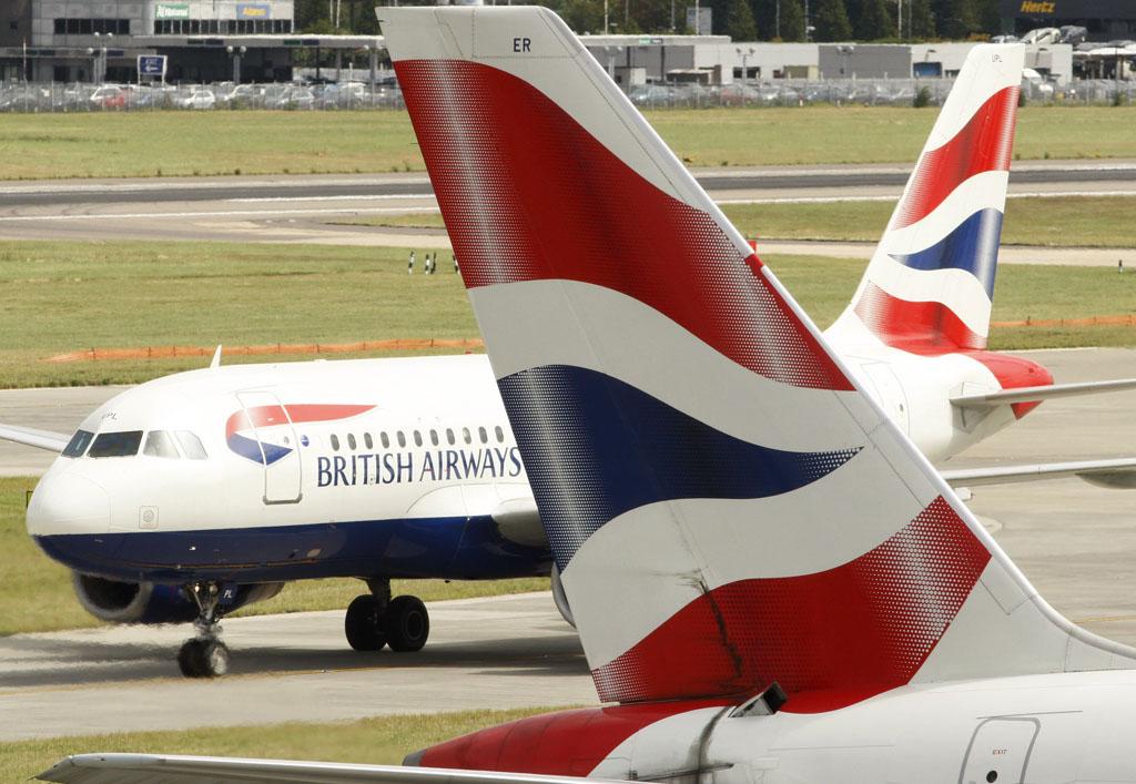 Aviones en Heathrow de British Airways