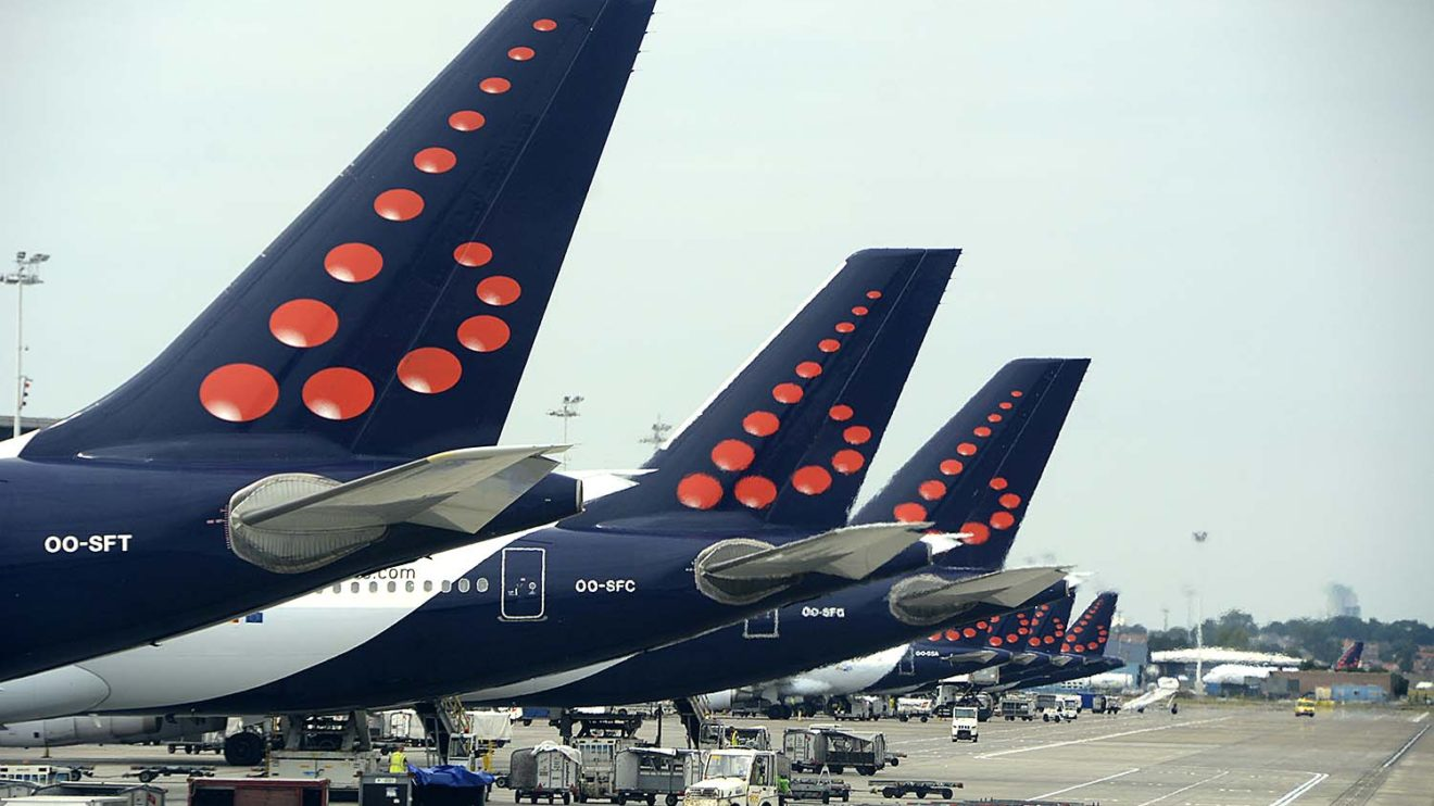 Aviones de Brussels Airlines en Bruselas.