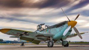 El antiguo C4K-152 con los colores que se le aplicaron par ala película La batalla de Inglaterra.