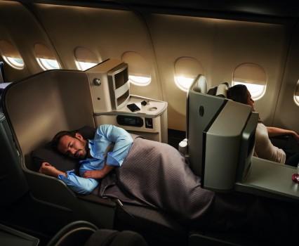 Asientos de clase Business de Iberia en su aviones de dos pasillos.