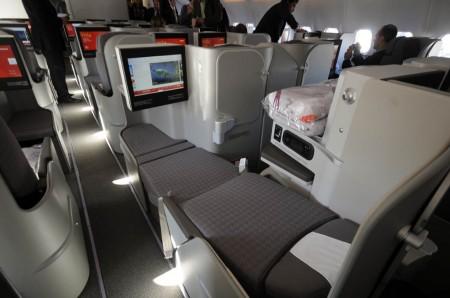 Asientos de clase business en el Airbus A330 de Iberia