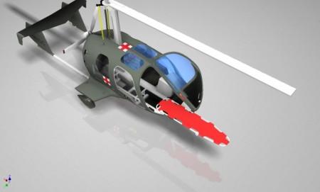 La carga y descarga de la camilla se efectúa a través de una puerta frontal.