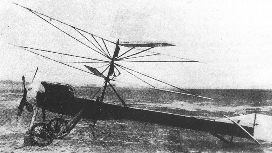El C1, primer autogiro, que no llega a volar.
