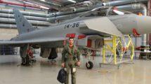 El último Eurofighter del Ejército del Aire listo para su aceptación por personal del CLAEX. (Foto Ejército del Aire)