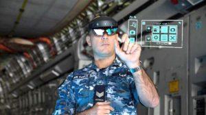 Representación de lo que ve el técnico de mantenimiento graias al uso de las gafas de realidad aumentada.
