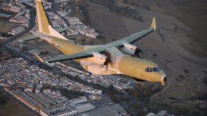 El primer C295 para el SAR canadiense durante su primer vuelo sobre tierras andaluzas.