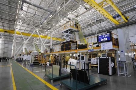Cadena final de montaje de los Airbus Defense and Space C295 y CN235 en Sevilla.