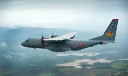El primer C295 de Kazajistán durnate uno de sus vuelos de prueba desde Sevilla.