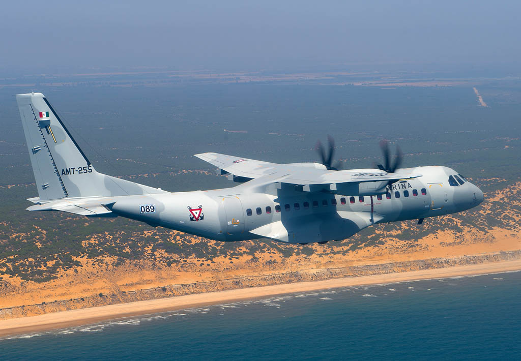 Airbus Defense and Space C295 de la Marina de México.