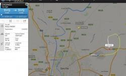 Trayectoria seguida por el A400M según Flightradar