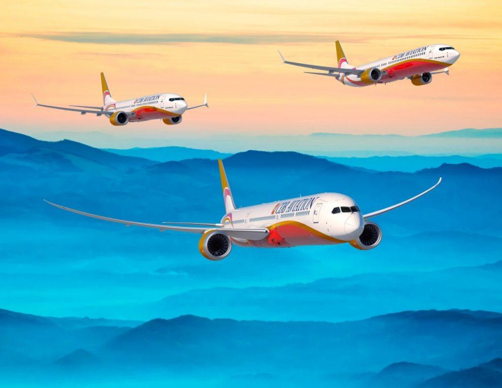 Los tres modelos de Boeing incluidos en el nuevo pedido de CDB Leasing.