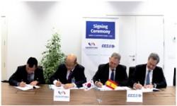 Acto de la firma del contrato entre CESA y la empresa coreana