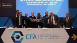 Acto, en 2017, de lanzamiento del Centro de Fabricación Avanzada en Cádiz.