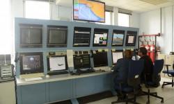 Una de las consolas usadas por el CLAEX para el seguimiento en tiempo real de los ensayos en vuelo.