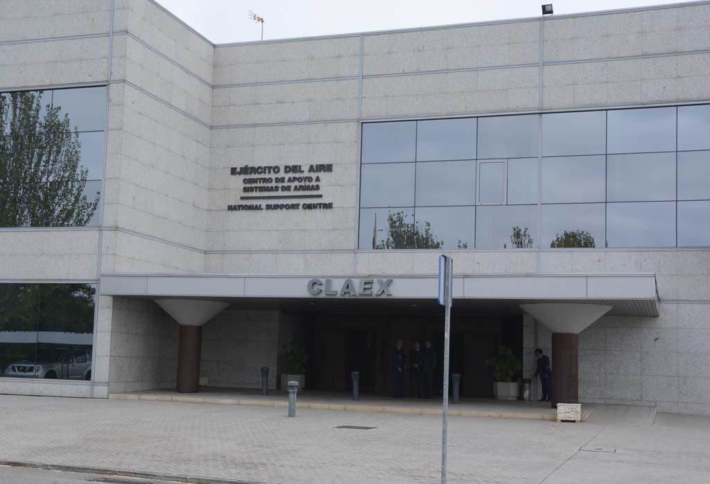 Edificio del CLAEX en sus instalaciones en Torrejón.