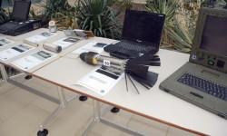 El CLAEX organizó una exposición de sus equipos y sistemas que ha certificado con motivo de sus 25 años. En la foto un señuelo perturbador del Eurofighter.