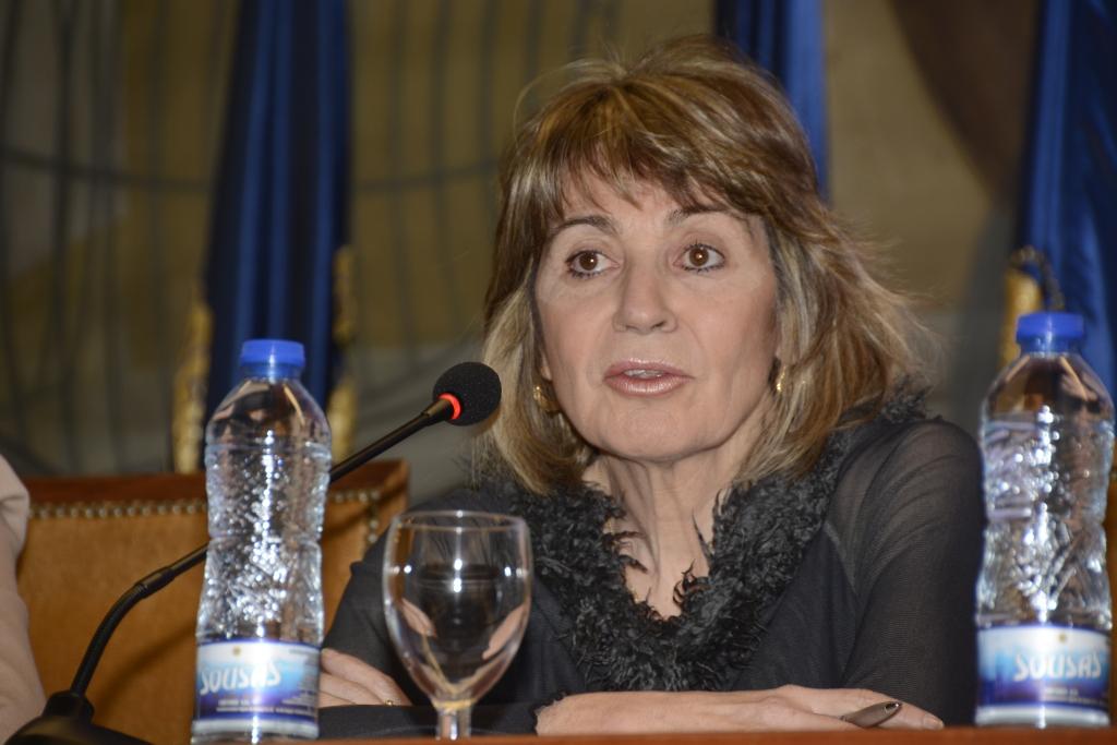 Teresa Busto logró con sus intervenciones una de las dos ovaciones del público. La otra fue para nuestra editora.