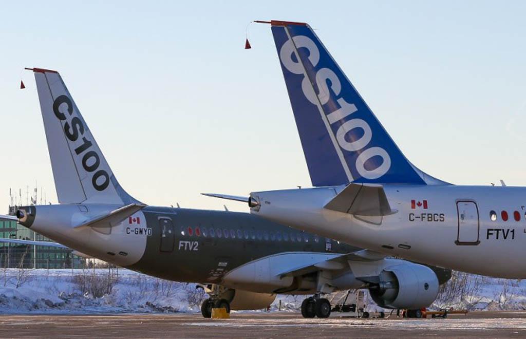 Los dos prototipos del CS100 que ya han realizado su primer vuelo.