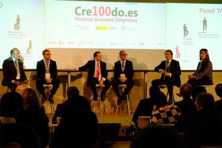 Jesús Prieto, tercero por la derecha, en el acto de presentación de Cre100do.es del ICEX.