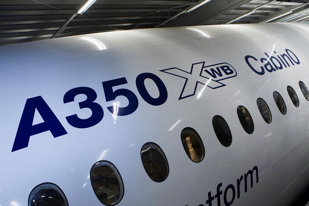 Cabina 0 del Airbus A350