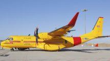 El primer Airbus C295 FWSAR en la factoría de Sevilla todavía con su matricula española de pruebas,