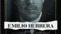 Cartel del documental sobre Emilio Herrera para su pase privado en Madrid.