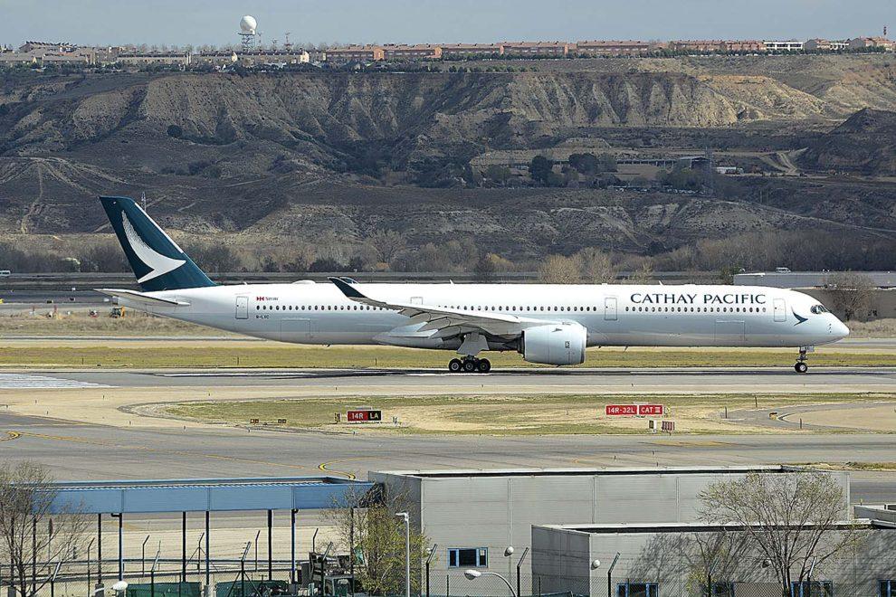 Cathay Pacific cuenta con nueve A350-1000 de un pedido de 20 unidades.