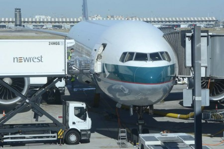 Cathay Pacific opera a Madrid con sus Boeing 777-300ER.