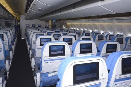 Asientos de Turista en el Boeing 777 de Cathay Pacific.
