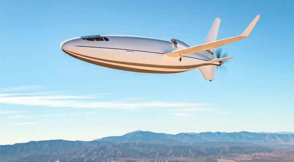 El prototipo del Otto Aviation Celera 500L en uno de sus vuelos.