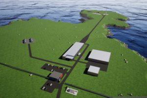 Posible aspecto que ofrecerá el Centro Espacial Shetland de la Agencia Espacial británica.