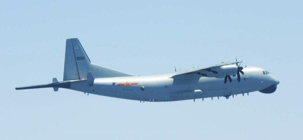 J-9 chino interceptado por aviones japoneses en 2018.