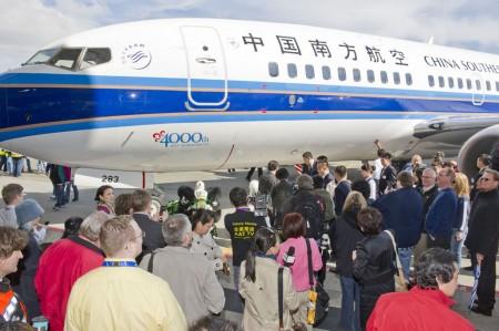 Entrega del Boeing 737 número 4.000