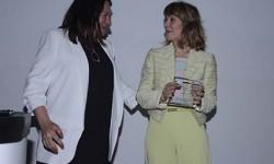 """Nuestra editora Esther Apesteguía junto con Teresa Busto de Airbus durante la jornada """"MUJER Y AERONÁUTICA"""" en el que también coincidieron."""