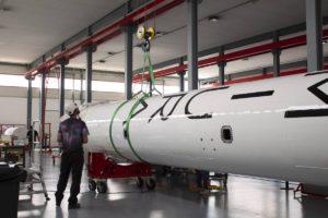Cohete Miura en las instalaciones de PLD Space.