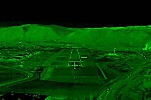 Ejemplo de la imagen que ofrece a los pilotos un sistema de visión aumentada.