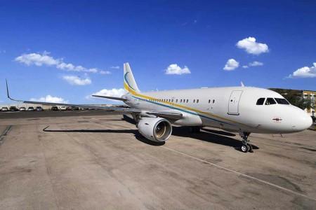 El primer Airbus A319 que ha recibido sharklets es este ACJ319 de Comlux Malta.