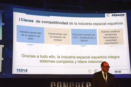 Jaime de Rábago, presidente de TEDAE presenta la Agenda Industrial del Espacio.